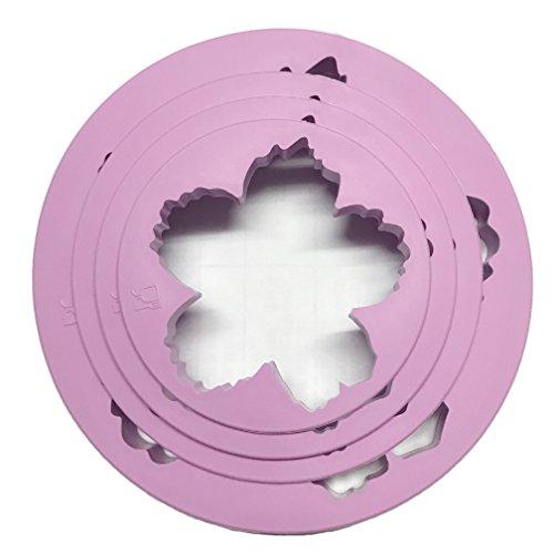 Miki 1201 Cake Decorating Gumpaste Flower Molds Peony Fondant Cutters Set Sugarcraft Modeling Tools Kit for Cake Decoration(4pcs, purple)