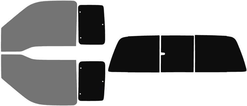 Full: 3 Piece Power Slider Rear w//defrosters: 5/% Fits: 2nd /& 3rd Generation 2008-2016 Ford F-250 F-350 Super Duty SuperCab Truck Precut Window Tint Kit Automotive Window Film