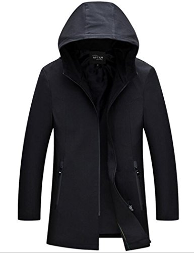 APTRO Men's Hooded Soft Shell Full Zipper Windbreaker Jacket Black US M (CN - Advantage Jacket Soft