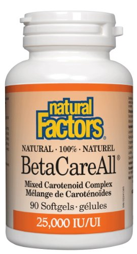 Natural Factors Betacareall 25000iu Softgels, 90-Count