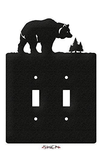 SWEN Products BEAR CUB WILDLFE Wall Plate Cover