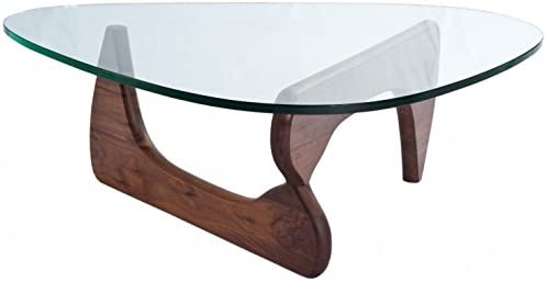 Noguchi Style - Tapa de cristal con base de madera para mesa de ...