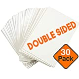 Dry Erase Boards [30pc Double Sided] Lapboards with ClearWipe Coating! Small White Boards - 9' x 12' Mini White Boards for Students, Classroom Teacher Supplies