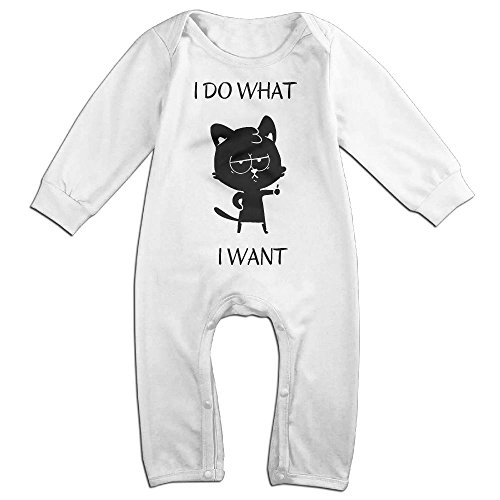 Newborn Baby I Do What I Want Long Sleeve Climb Clothes 12 Months (Cola Bear Costume)