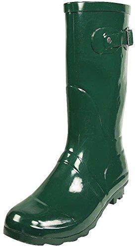 NORTY Women's Hurricane Wellie - 14 Solids and Prints - Glossy & Matte Waterproof Mid-Calf Rainboots Hunter
