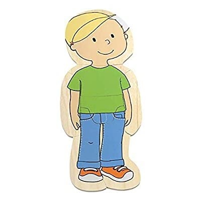 Hape Your Body 5-Layer Wooden Puzzle Boy: Toys & Games