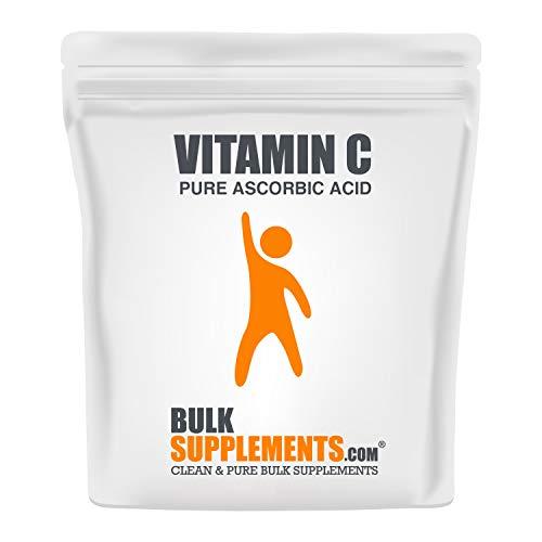 BulkSupplements.com Vitamin C Powder – Pure Ascorbic Acid (500 Grams – 1.1 lbs – 667 Servings) Non-GMO – Gluten Free