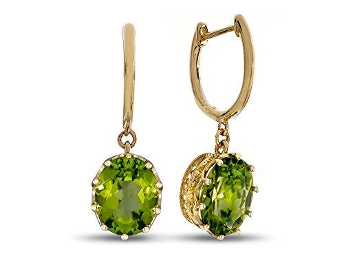 LALI Classics 14k Yellow Gold Peridot Oval - Oval Gold Earrings Peridot