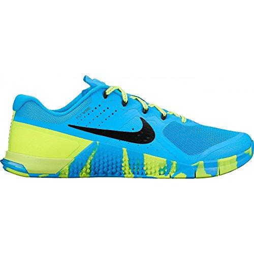 Nike Womens Metcon 2 Amp Blue Glow/Black Volt Black Training Shoe 6.5 Women US