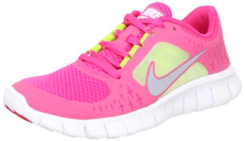new product 95b7d 9cdce Amazon.com   Nike Free Run 3 (GS) Big Kids Running Shoes Spark Reflective  Silver-White-Volt 512098-600-5.5   Running