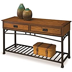 Home Styles 5050-22 Modern Craftsman Sofa Table, Distressed Oak Finish