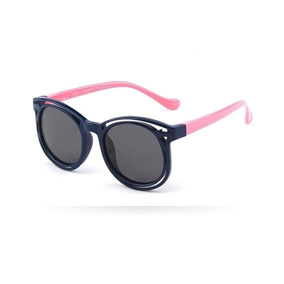 Wang-RX Gafas de sol redondas de los niños polarizados de la ...