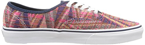 Baskets Chevron Adulte woven Basses Authentic U true pink Multicolore Vans White Mixte T4wUxp4q
