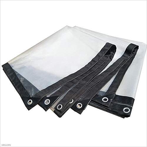 労働者非行暖かくCHAOXIANG ターポリン サンシェード 厚い プラスチッククロス 雨をカバーする 柔らかい 防雨 日焼け止め 光透過率 PE 厚さ0.30mm、 7サイズ カスタマイズ可能な (色 : クリア, サイズ さいず : 1.8x2.8m)