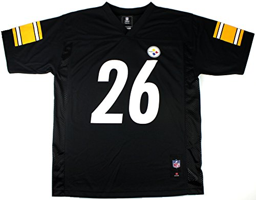 Outerstuff Le'Veon Bell Pittsburgh Steelers #26 NFL Youth Mid-tier Jersey Black (Youth Large 14/16)