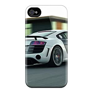 Iphone 4/4s NpI1107PgEe Unique Design Nice Audi R8 Skin Perfect Hard Cell-phone Cases -AnnaDubois