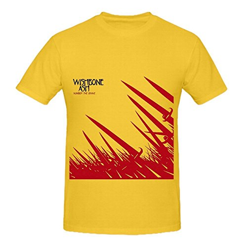 Wishbone Ash Number The Brave Hits Mens O Neck Customized T Shirts Yellow