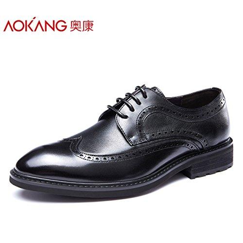 Aemember Men's Fall Shoes Chaussures D'affaires Sculptées Chaussures Pour Hommes Chaussures De Bureau, 41, Noir
