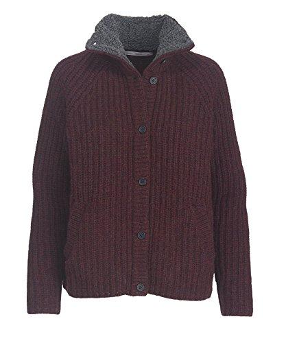 Woolrich Women's by The Fire Shetland Wool Cardigan Sweater, Wine. (Purple), Size (Woolrich Wool Blazer)