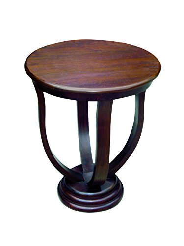 - NES Furniture NES Fine Handcrafted Furniture Solid Mahogany Wood Rose Side/End Table - 24