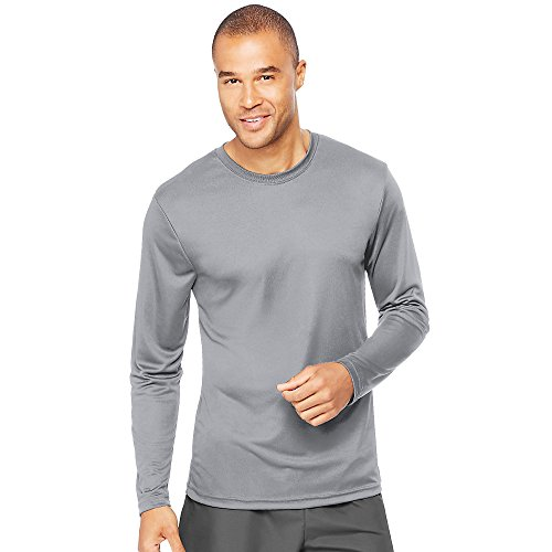 Hanes-Cool-DRI-Performance-Mens-Long-Sleeve-T-ShirtGraphite