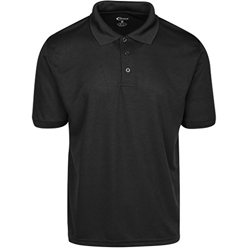 Wicking Moisture T-shirt Black - Premium Mens High Moisture Wicking Polo T Shirts (Black, Medium)