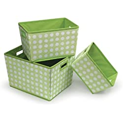 3 Polka Dot Baskets