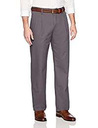 Men's Classic-Fit Wrinkle-Resistant Pleated Chino Pant