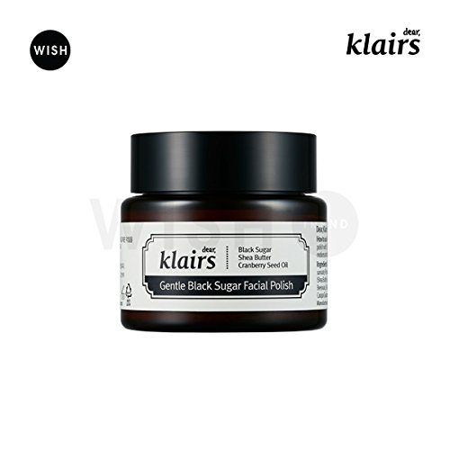KLAIRS Gentle Black Sugar Fcial Polish, Korean Cosmetics, Korean Beauty, Kpop Beauty, Kstyle by KLAIRS