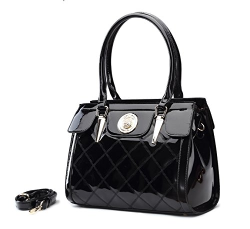 Top Handbag Lasting Satchel High Quality Handle Newbee Quality Fashion Premium PU Long Black YwzqZaxI1