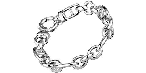 Clio Blue Bracelet chaîne maille mixte New Basic en argent 925, 25.9g