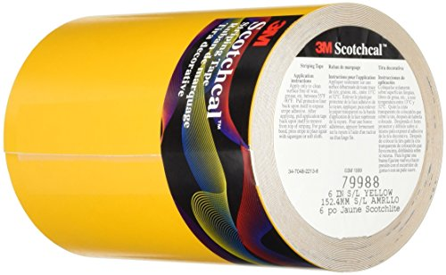 3M Scotchlite Reflective Striping Tape, Yellow, 6-Inch by...