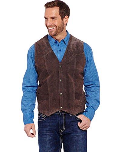 Cripple Creek Men's Suede Leather Vest Brown X-Large
