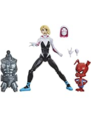 Spider-Man Hasbro Marvel Legends Series Into The Spider-Verse Gwen Stacy 6-inch Collectible Action Figure Toy, with Spider-Ham Mini-Figure