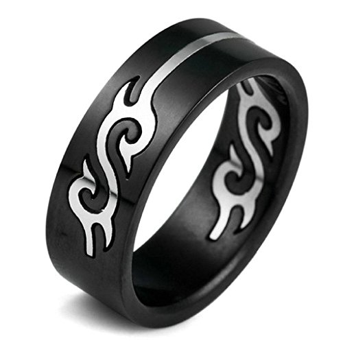 Aooaz Stainless Steel Rings For Men Black Hollow Openwork Dragon Vintage Bands Size 13 Free Engraving
