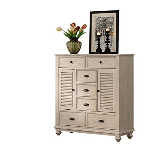 Mule Chest - NCF Ladella Cape Cod Shutter Front Mule Chest in White Driftwood