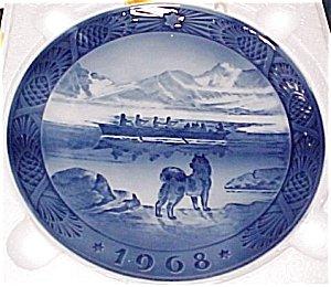 1968 Royal Copenhagen Christmas Collector Plate by Royal Dalton