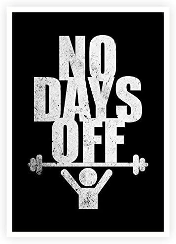 Amazon.com: Sin días Off inspirador gimnasio y fitness citas ...