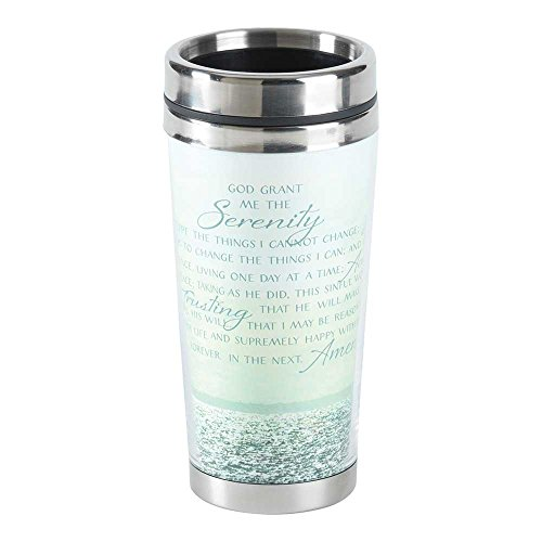 Serenity Prayer Mug - The Serenity Prayer Ocean Waves 16 Ounce Stainless Steel Travel Coffee Mug