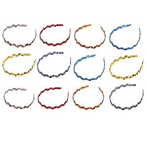 KESYOO 12Pcs Plastic Teeth Headbands Wavy Hairband Spring Hair Hoop Zig Zag Sharks Tooth Hair Comb Headband Hair Hoop…