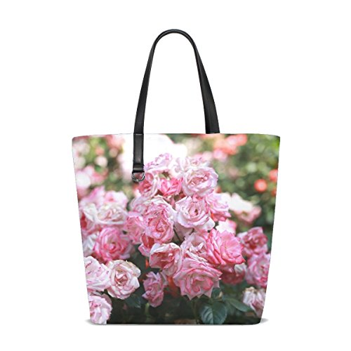 Rh Studio Rose Pink Buds Blooms Tote Bag Purse Handbag For Women Girls ()