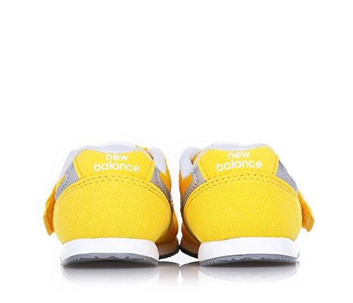NEW BALANCE - Scarpa ginnica 996 Infant gialla, in camoscio e tessuto, con chiusura a strappo, Bambino, Ragazzo
