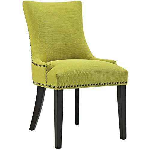 Wood Grass - Modway Marquis Modern Elegant Upholstered Fabric Parsons Dining Side Chair With Nailhead Trim And Wood Legs In Wheatgrass