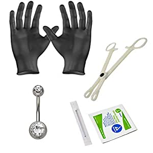 Details about  /15x Jewelry Needles Kits Belly Navel Button Ring Body Piercing Tools Set
