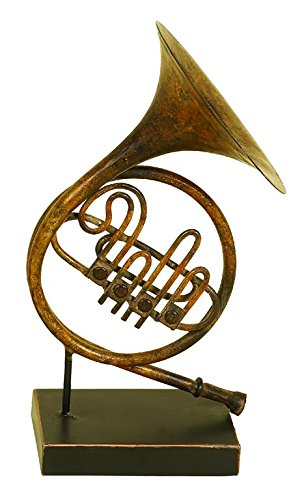 "Deco 79 13020 Metal French Horn 11""H, 6""W -"