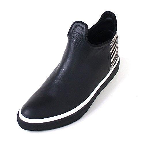 Mexicana WoMen Hi-Top Slippers Schwarz (black zebra white)