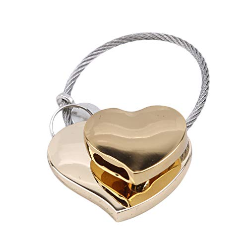 DearAnswer Double Heart Padlock Keychain Pendant Mini Love Lock Zinc Alloy Padlock Valentines Anniversary Day -