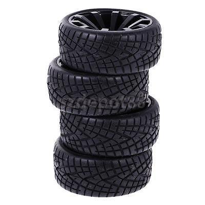 [RC Wheel Rim Rubber Tyres Tires Fits for 1/10 HSP HPI On Road Car 601-8001] (Hpi Rim)