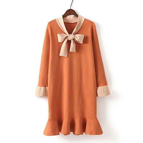 orange topshop dress - 5