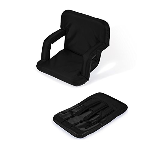 Portable Multiuse Adjustable Recliner Stadium Seat by Trademark Innovations (Black) by Trademark Innovations